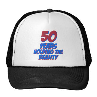 50 years old birthday designs cap