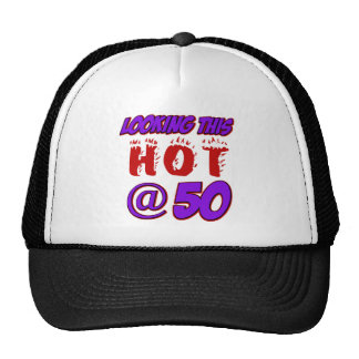 50 years old birthday designs mesh hat