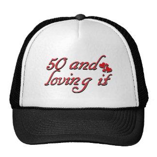 50 years Old birthday designs Trucker Hats