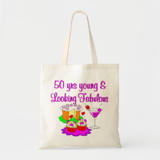 50 YEARS YOUNG BUDGET TOTE BAG