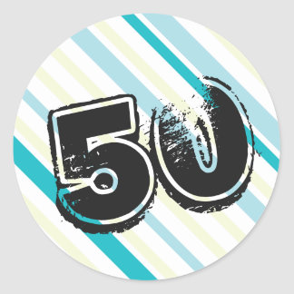 50 yr Bday - 50th Birthday Party Classic Round Sticker