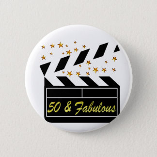 50 YR OLD MOVIE STAR 6 CM ROUND BADGE