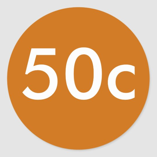 50c classic round sticker
