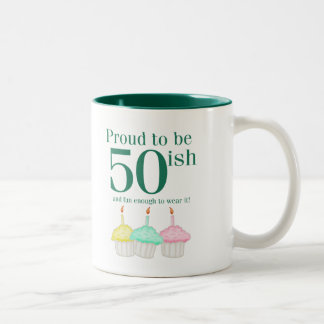 50ish Cupcakes Two-Tone Mug