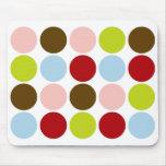 50s Big Vintage Dots Designer Mousepad