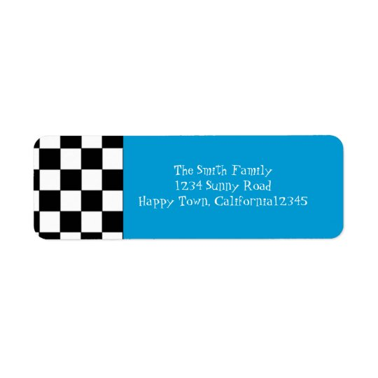 50's Chequered Return Address Label