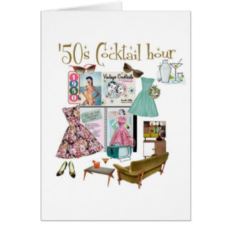 50s Cocktail hour Cards