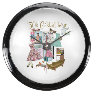 '50s Cocktail hour clock Aquavista Clocks