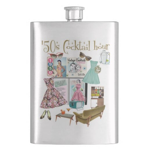 '50s Cocktail hour flask