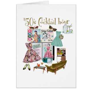 '50s Cocktail hour greeting card