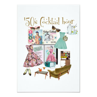 '50s Cocktail hour invitations