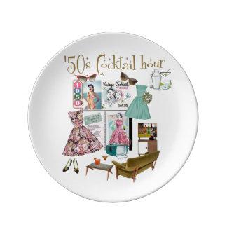 '50s Cocktail Hour Porcelain Plates