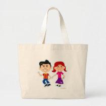 50s Dance Kids Too Large Tote Bag