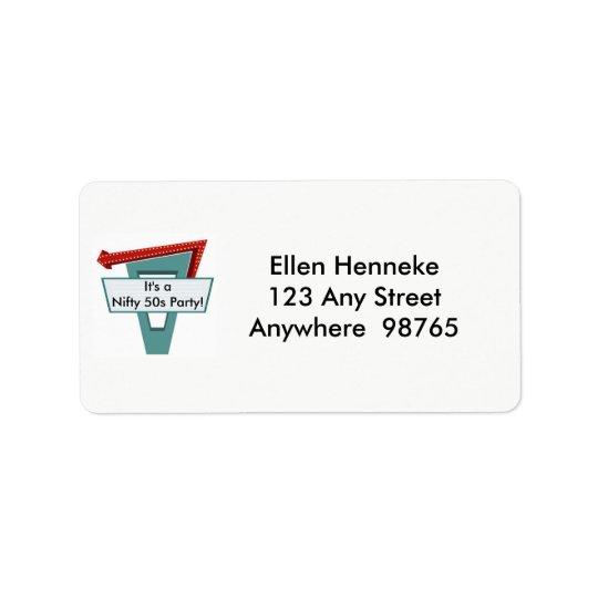 50s Diner Sign 1 Label