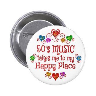 50s Happy Place 6 Cm Round Badge