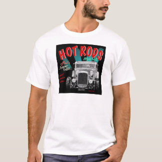 50's HOT RODS, Rock 'n Roll Design T-Shirt