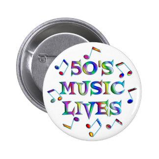 50s Music Lives 6 Cm Round Badge