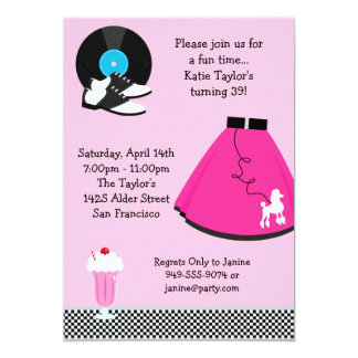 50's Party Invitation