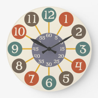 50s Retro Atomic Starburst Midcentury Modern Clocks