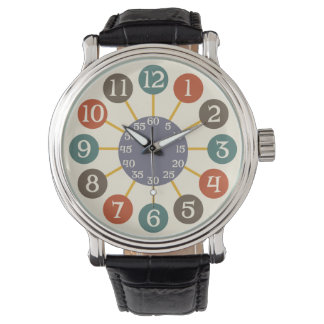 50s Retro Atomic Starburst Midcentury Modern Watch