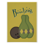 50s Retro Bowling Posters