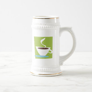 50s Retro Coffe Cup Graphic Beer Steins