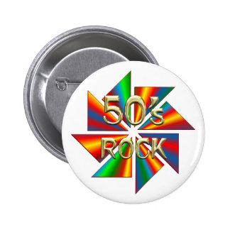 50s Rock 6 Cm Round Badge