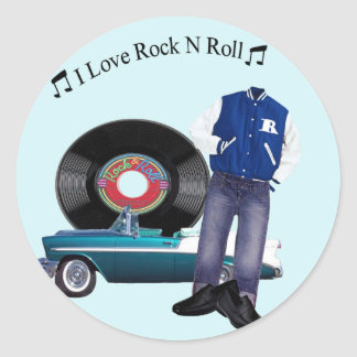 50's Rock N Roll Stickers