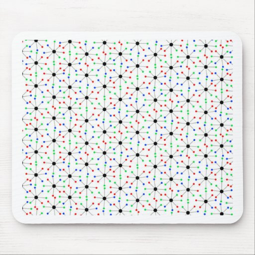 50's Sputnik Retro Pattern Mouse Pad