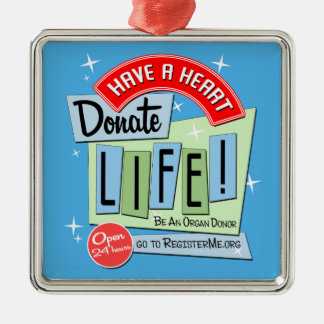 50's-style Retro Donate Life Christmas Ornament