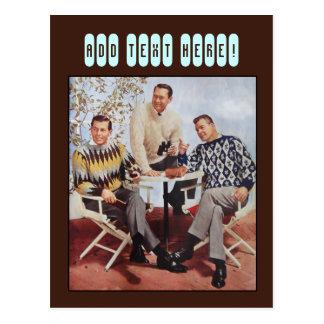50's Sweater Guys Postcard