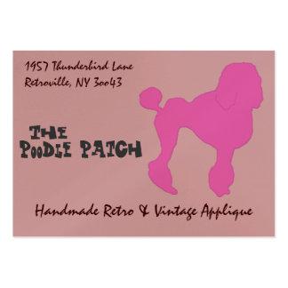 50s Vintage Pink Felt Poodle Business Card Templates