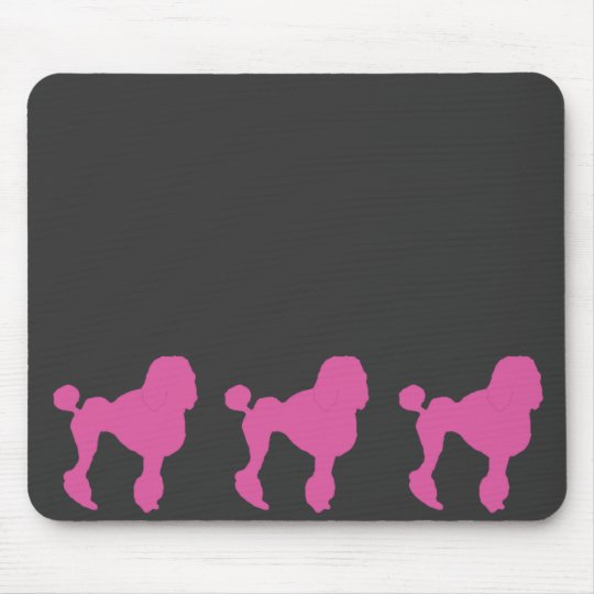 50s Vintage Pink Felt Poodle Mouse Mat