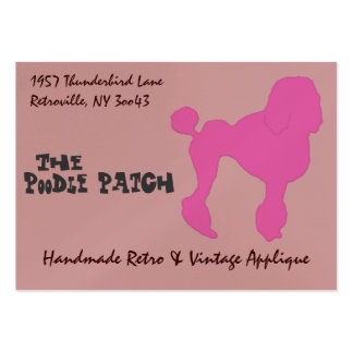 50s Vintage Pink Felt Poodle Pack Of Chubby Business Cards