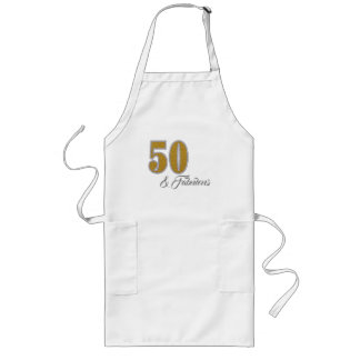 50th and Fabulous Golden Celebration Apron
