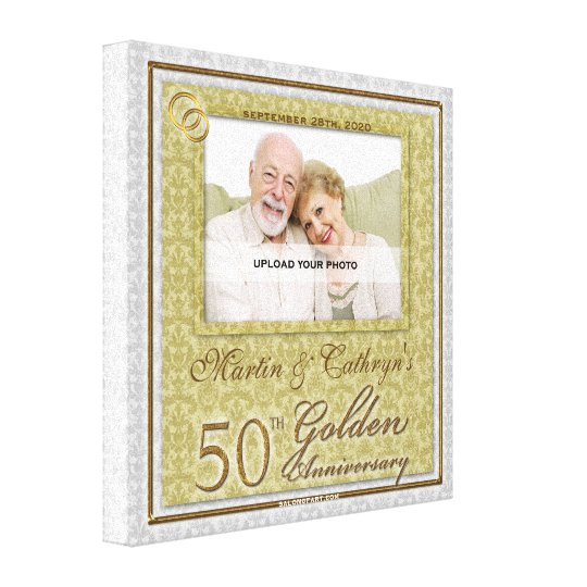 50th Anniversary 16x16 Personalised Photo Canvas