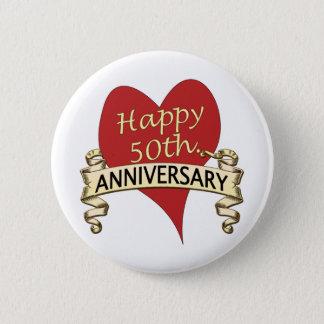 50th. Anniversary 6 Cm Round Badge