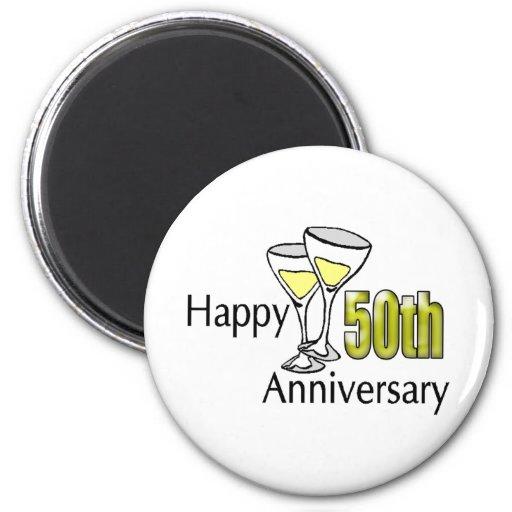 50th anniversary 6 cm round magnet
