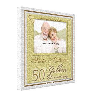 50th Anniversary 8x8 Personalized Photo Canvas
