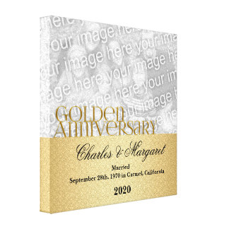 50th Anniversary 8x8 Personalized Photo Gallery Wrap Canvas