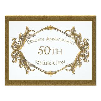 50th Anniversary Celebration 11 Cm X 14 Cm Invitation Card