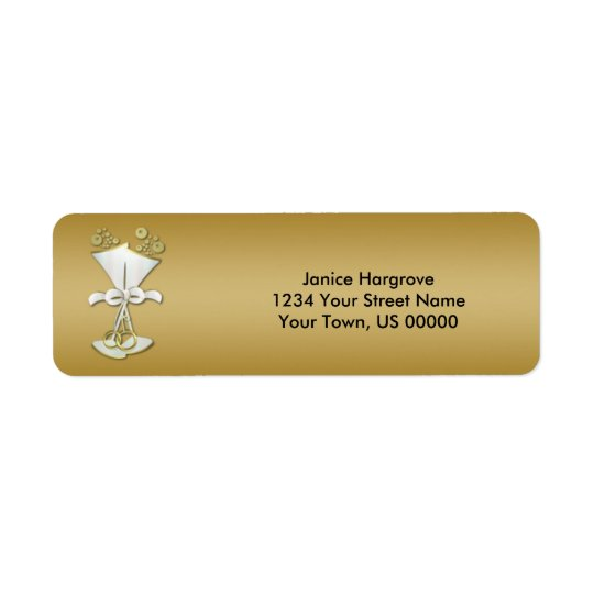 50th Anniversary Champagne Celebration Labels