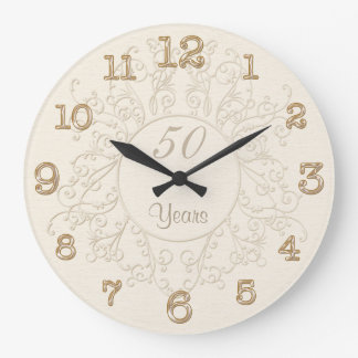 50th Anniversary Clocks or ANY Anniversary Year