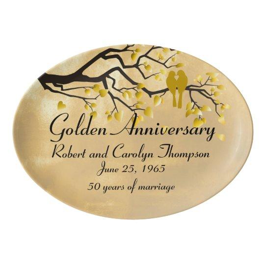 50th Anniversary Commemorative Platter Porcelain Serving Platter