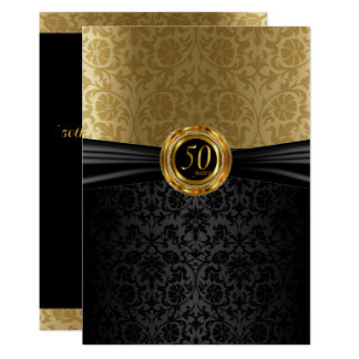 50th Anniversary Damask Design Card