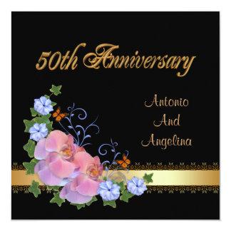 50th anniversary dinner invitation orchids