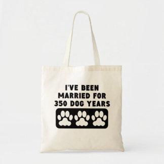 50th Anniversary Dog Years Budget Tote Bag