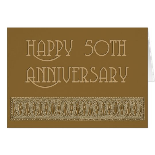 50th anniversary elegant card