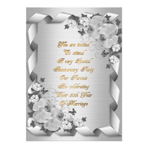 50th Anniversary for parents invitation
