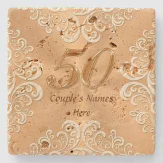 50th Anniversary Gifts Ideas Personalized Coasters